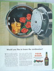 MAGAZINE ADVERTISEMENT FOUR ROSES