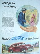 MAGAZINE ADVERTISEMENT 1946 FORD CAR