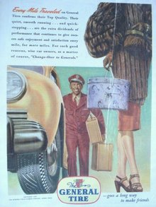 MAGAZINE ADVERTISEMENT 1945 GENERAL TIRE
