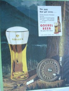 MAGAZINE ADVERTISEMENT 1946 GOEBEL BEER