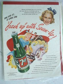 MAGAZINE ADVERTISEMENT 1946 SEVEN-UP