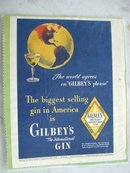MAGAZINE ADVERTISEMENT 1946 GILBEY'S GIN