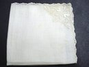 FINEST NEEDLE LACE BRIDAL HANKY
