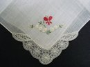 PRETTY EMBROIDERY HANKY