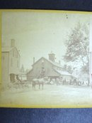 Stereoview Card Early 1900's Small Town Scene