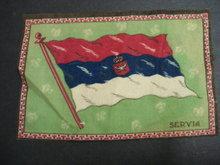 CIGAR FELT FLANEL FLAG of SERBIA SERVIA