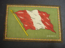 CIGAR FELT FLANEL FLAG of PERU