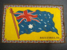 CIGAR FELT FLANEL FLAG of AUSTRALIA