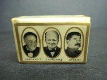 Roosevelt Churchill & Stalin Match Cover
