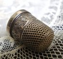 Victorian Sterling Thimble English Hallmarks