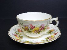 Finest COALPORT TEACUP SET CUP and SAUCER SWEET PEA