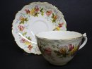 COALPORT TEACUP SET CUP & SAUCER SWEET PEA