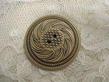 Antique Celluloid Button Lovely Design