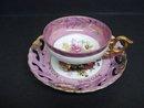Luster Footed Teacup Set Vintage