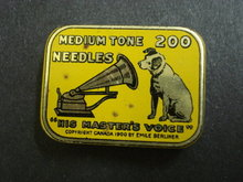 GRAMOPHONE NEEDLE TIN - HIS MASTERS VOICE