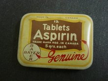 12 TABLETS ASPIRIN TIN BOX