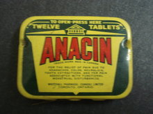 12 TABLETS ANACIN  TIN BOX