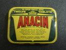 12 TABLETS ANACIN  TIN BOX