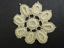 LACE APPLIQUE HAND MADE