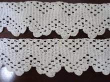 Pretty Hand Crochet Lace Trim