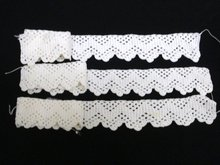 HAND CROCHET LACE TRIMS - 3 PIECES
