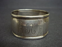 Sterling Napkin Ring - Monograms