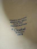 1981 HUMMEL BELL - LARGE