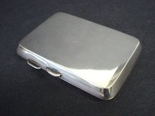 SOLID STERLING CIGARETTE CASE ENGLISH, BIRMINGHAM HALLMARKS,