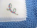 WIDE LACE HANKIE EMBROIDERED MONOGRAM