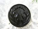 Victorian Glass Button - French Black Jet