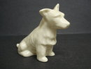 IRISH BELLEEK DOG FIGURINE SCOTTIE