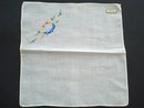 IRISH LINEN VINTAGE HANDKERCHIEF NEVER USED