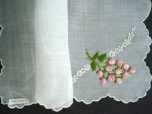 SWISS EMBROIDERY HANKY HANDKERCHIEF