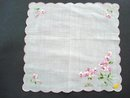 Very pretty floral hanky Handkerchief