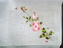 Stunning Handkerchief Silky Floral Embroidery