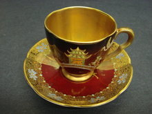 CARLTON WARE TEACUP SET DEMITASSE STYLE