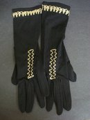 Vintage Ladies Gloves Black/Gold