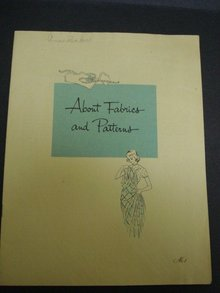 Vintage Book FABRICS and PATTERNS by SINGER #1