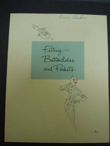 BOOK FITTING BUTTONHOLES POCKETS SINGER #3