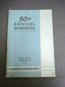 1938 CURLING BOOK 50 th ANNUAL BONSPIEL