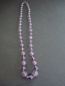 CELLULOID LAVENDER BEADS
