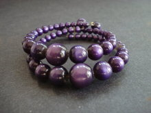 Very Pretty Plum Color Vintage Bead Bracelet