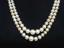 1940's PEARL NECKLACE 2 STRAND