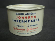 JOHNSON ADHESIVE TAPE TIN BOX
