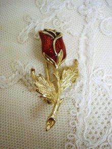 Vintage Brooch Rose Tiny