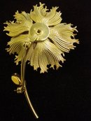 Lovely Vintage Sterling Brooch Pin by Bond Boyd Gold Filled