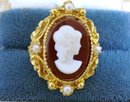 Vintage Ladies Ring Cameo