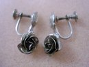Elegant Bond Boyd Sterling Earrings Screw Back