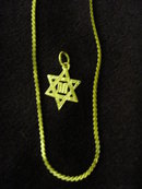 10K STAR of DAVID PENDANT AND CHAIN NECKLACE