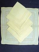 HAND DRAWNWORK NAPKINS SET OF FOUR